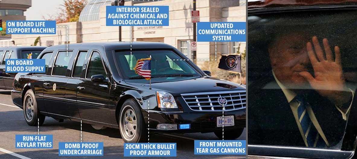 Fitur yang ada pada kendaraan kepresidenan Amerika Serikat Donald Trump