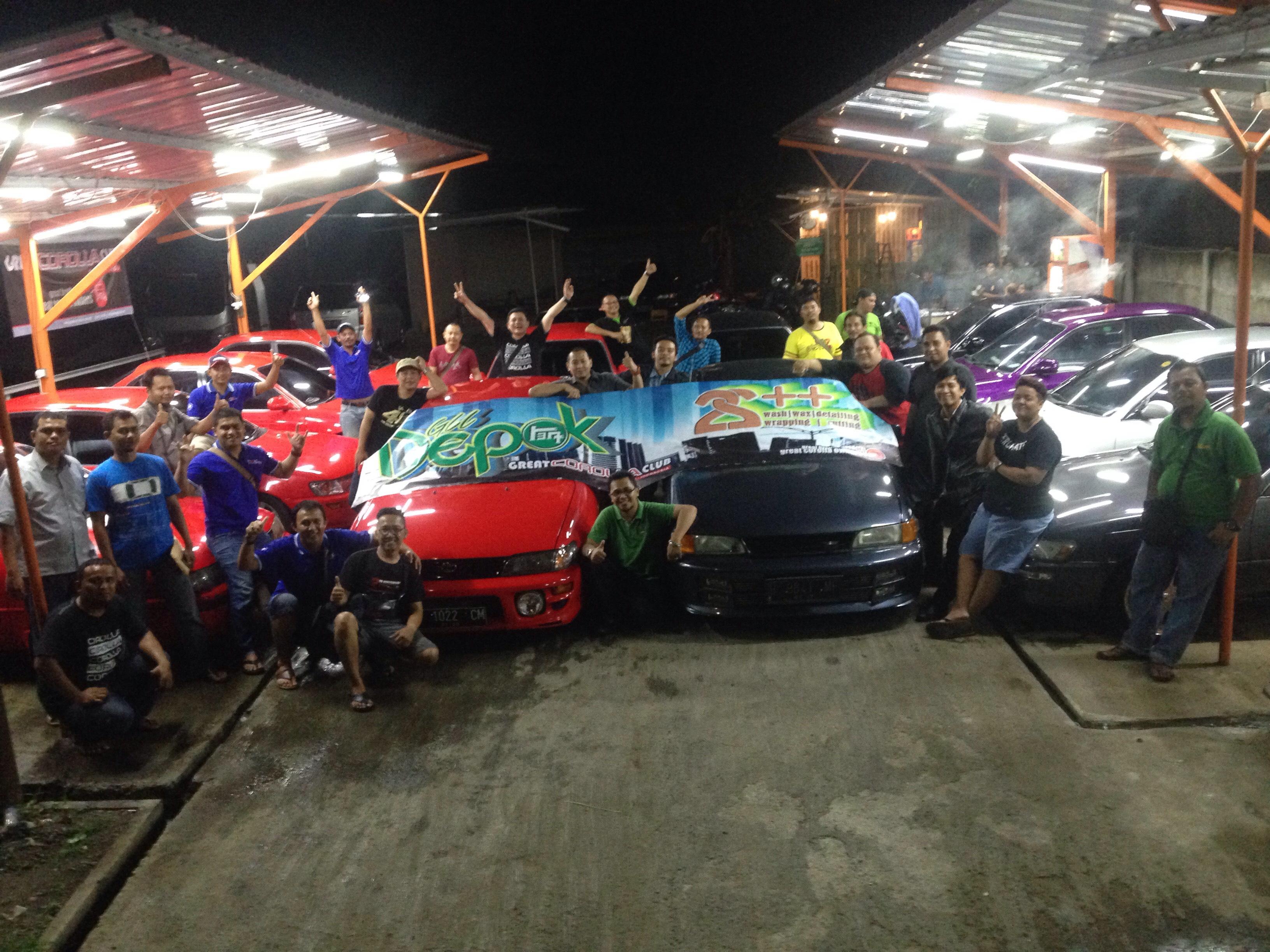 Toyota Great Corolla Club Depok Menghabiskan Malam Bersana