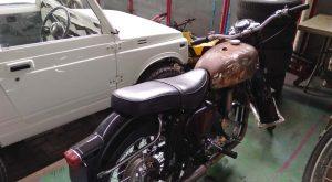 Project Bimo Motor Custom yang sedang dalam proses.Foto/Carmudi Indonesia/Ben