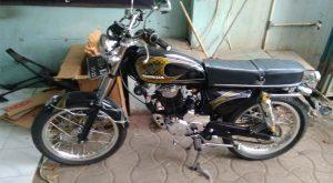 Motor hasil kreasi dari Central Classic Motor.Foto/Carmudi Indonesia/Ben