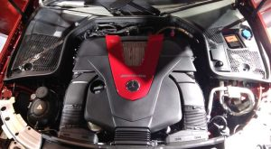 Mesin AMG yang disemakan di Seri C43 AMG 4METIC Coupe.Foto/Carmudi Indonesia/Ben