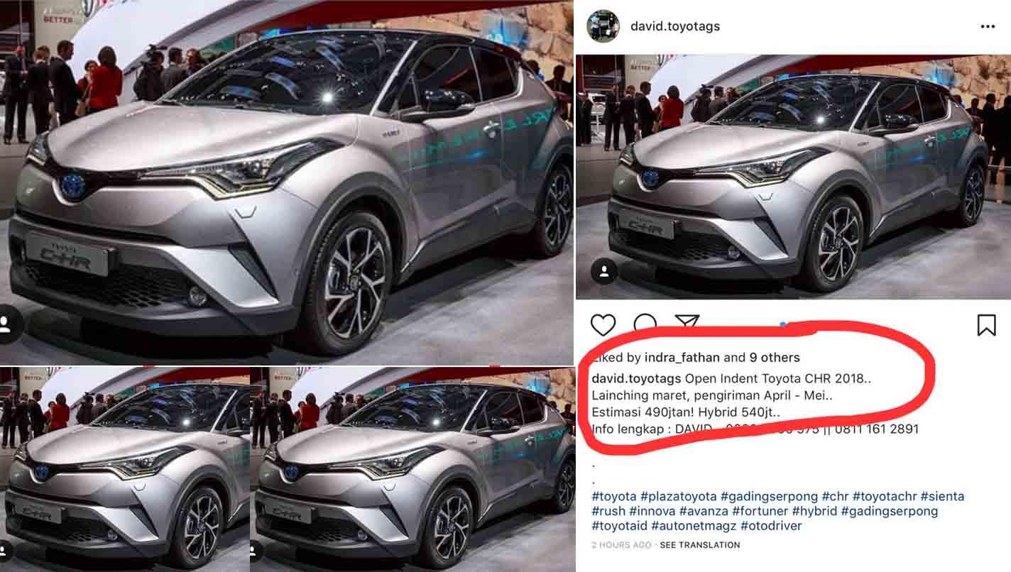 Diler Toyota Terang Terangan Buka Inden C HR Sebelum Diluncurkan