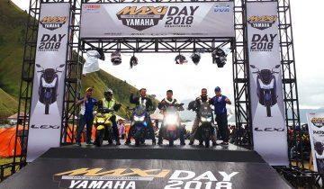 Maxi Yamaha Tour de Indonesia naik di atas panggng Yamaha Maxi Day Medan