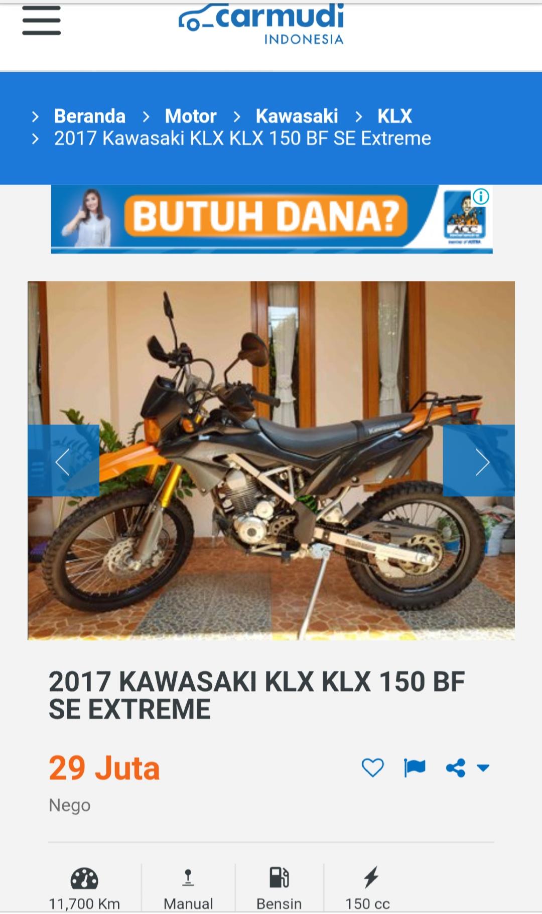 Berburu Motor Adventure Pilih Kawasaki Klx 150 Bekas Atau Baru
