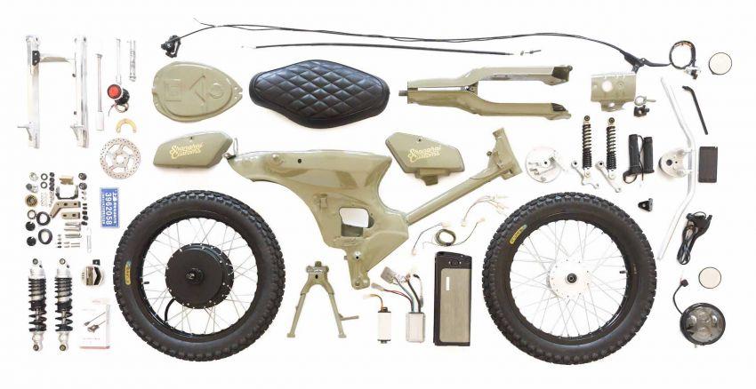 Kreatif Modifikasi Honda Bekjul Tua Jadi Motor Listrik