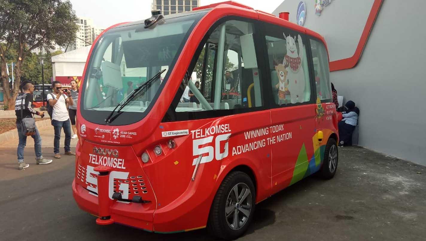 Minibus otonom telkomsel