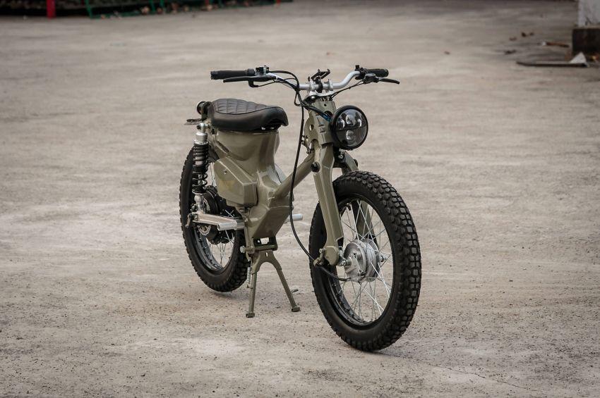 Gambar Modifikasi Sepeda Motor Jadul Kreatif Modifikasi Honda Bekjul Tua Jadi Motor Listrik
