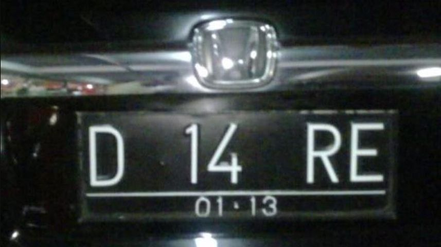 plat nomor kendaraan