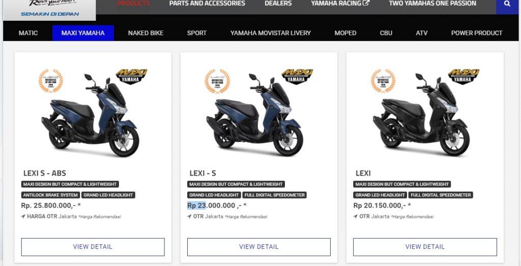 Yamaha Lexi ABS