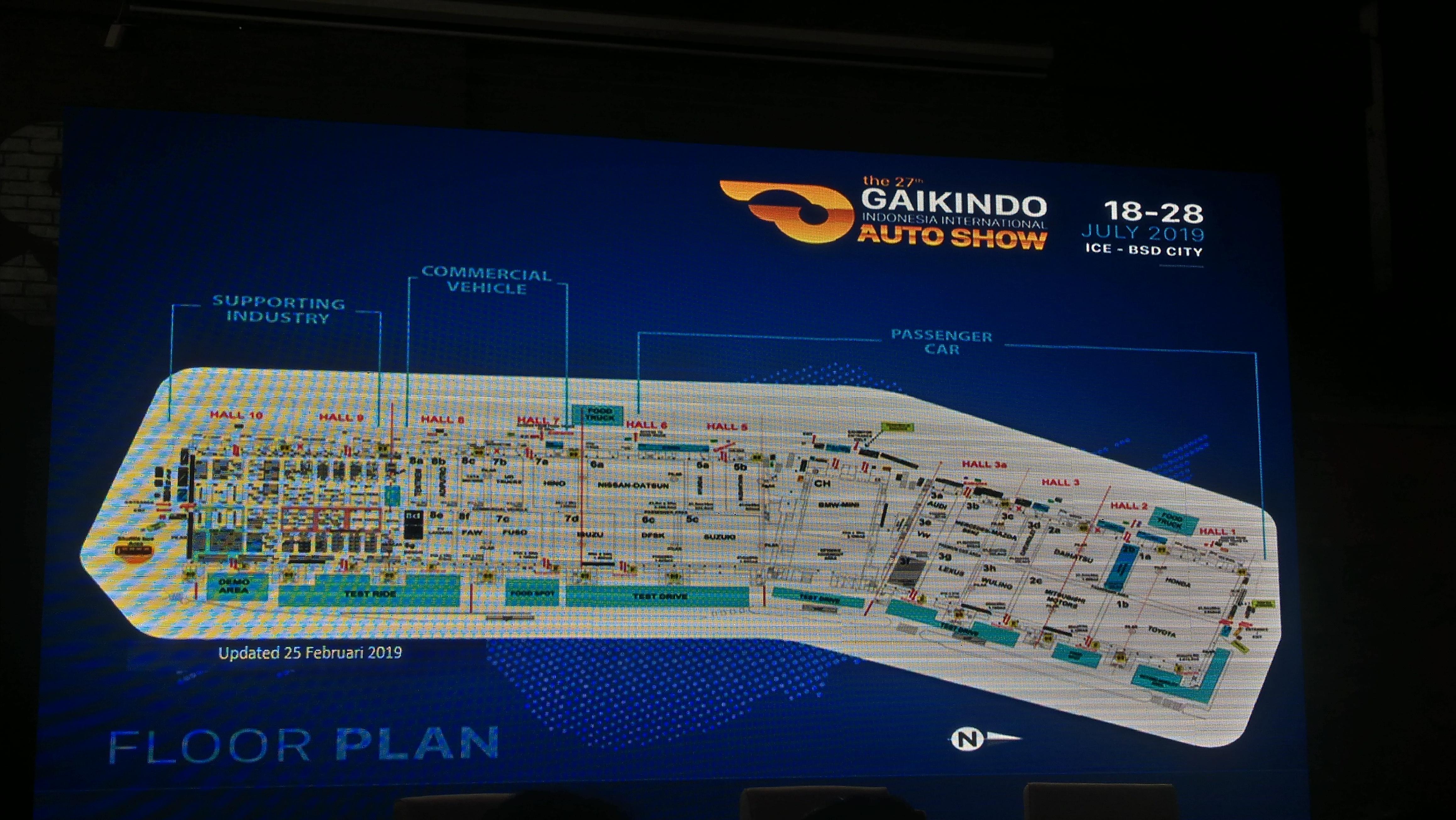layout GIIAS 2019 Jakarta