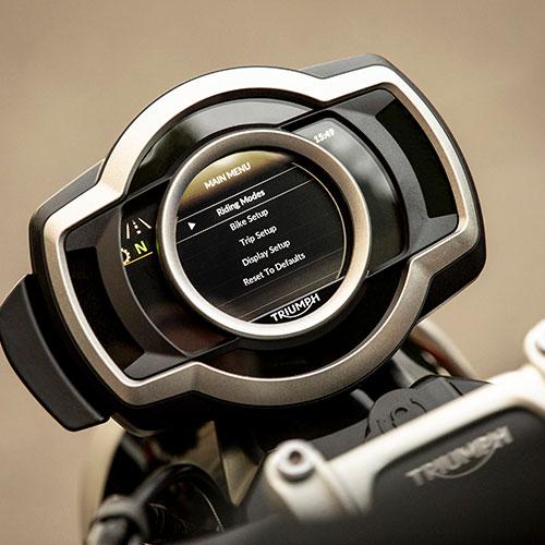 Instrumen TFT Generasi Kedua New Triumph Scrambler 1200 XE