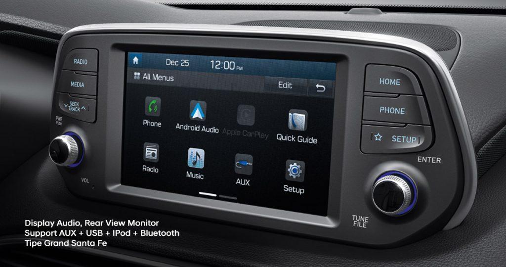 Head unit Hyundai Santa Fe varian baru