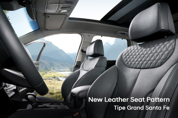 New Leather Seat Pattern Hyundai Santa Fe varian baru