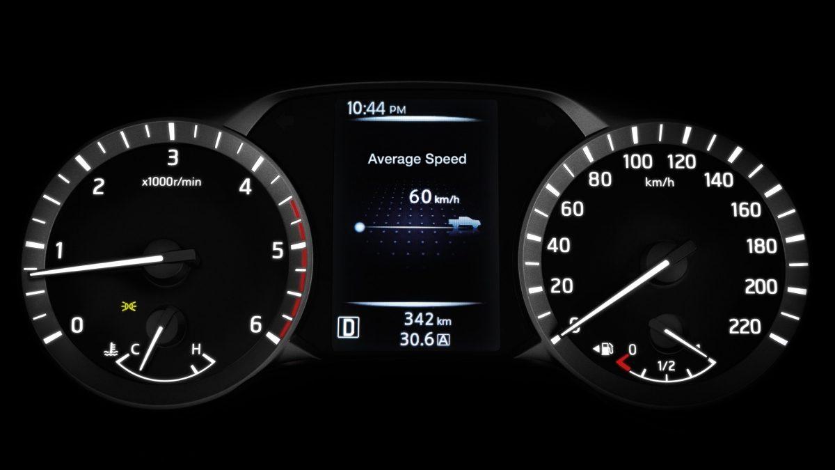 Tampilan Speedometer Nissan Navara 2018