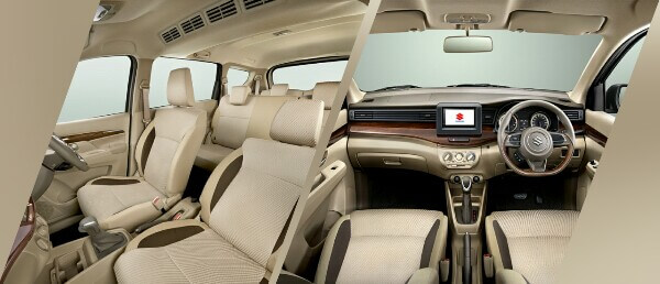 Tampilan Interior Suzuki Ertiga Baru di Indonesia