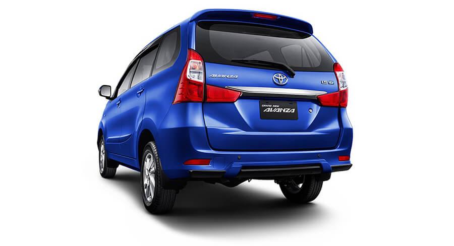 Tampak belakang Toyota Avanza baru