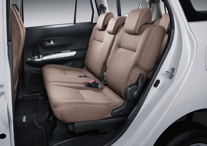 Tampilan Jok Baris Kedua Toyota Calya