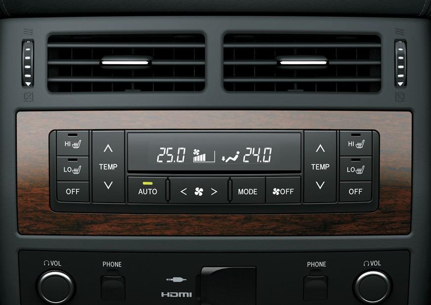 Tampilan Fitur AC Toyota Land Cruiser